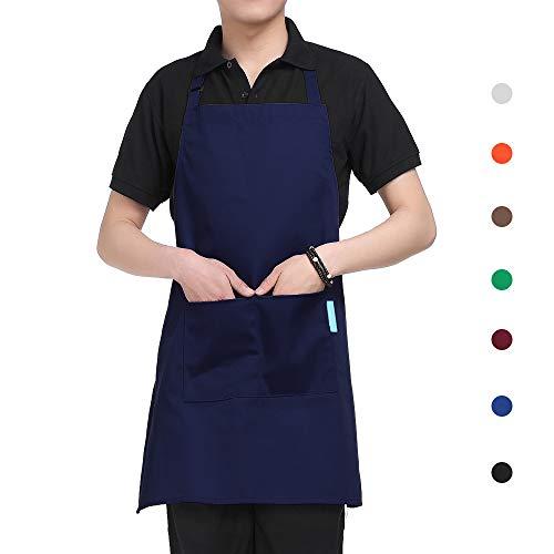 esonmus Schürze Kochschürze Küchenschürze Latzschürze verstellbarem Nackenband