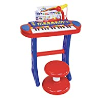 Bontempi 13 3240 Electronic Organ with Legs, Stool and Microphone, Multi-Color