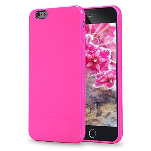 iPhone 6Plus Case, iPhone 6S Plus Fall, FGA Sugar Candy Cute Schutzhülle Slim Perfekt Passform Farbe Weiche Flexible TPU Gel Cover für iPhone 6Plus, iPhone 6S Plus-5.5Zoll, Hot Pink - Ersatz-bildschirm-pink Iphone 6