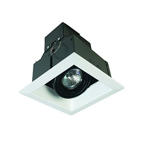 Eurofase TE111-02 1-Light MR16 Recessed Square Mutiple Trim, White by Eurofase (Mr16 Trim)