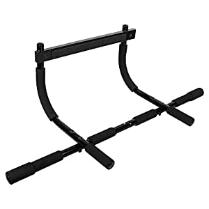 Fitkit FKDGB05B Door Gym Bar, Adult (Black)