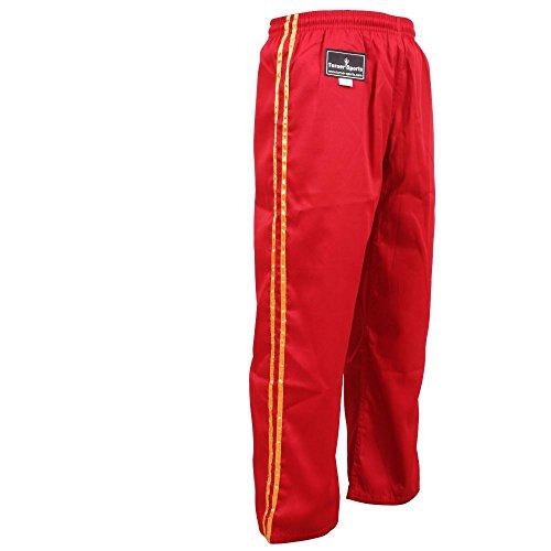 TurnerMAX Karate Hose Rot mit Goldstreifen