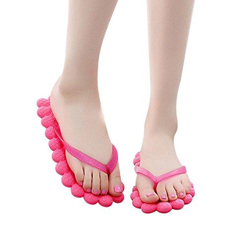 Infradito da Bagno Donna ,Bluestercool Flip Flops Estive Eleganti per Spiaggia e Piscina Floreale Rosa