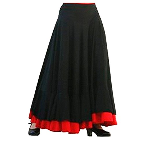 Falda Baile Flamenco Adulto Volante Rojo XL