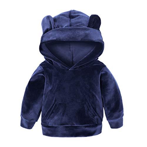 Yying Kinder Kleidung Jungen Sets Winter Weihnachten Kinder Kleidung Kleinkind Mädchen Jungen Kleidung Sets Baumwolle Mädchen Sport Anzüge Marineblau 80 (Weihnachten Anzüge Für Jungen)