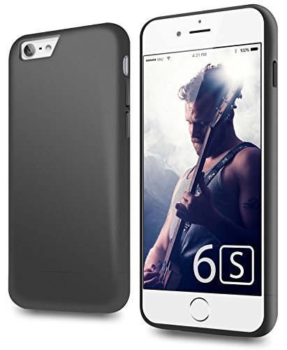 vau Snap Case Slider - zweigeteiltes Hard-Case für Apple iPhone 6S (matte black)