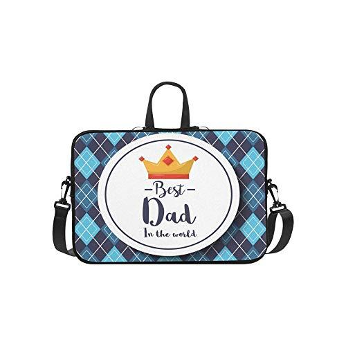Abzeichen Best Dad World Crown Argyle Aktentasche Laptoptasche Messenger Schulter Arbeitstasche Crossbody Handtasche Für Geschäftsreisen - Argyle Messenger