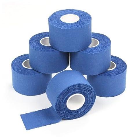 6 x Sport-Tape 3,8 cm x 10 m Farbe blau