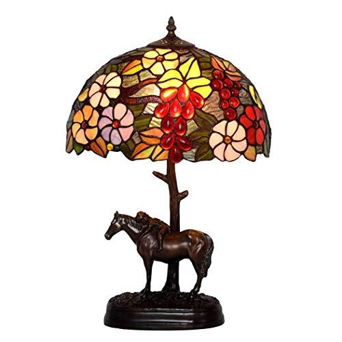 Monte la lámpara American Country estilo de Tiffany lámpara de estudio Sofá...