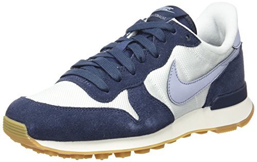 Nike Damen Internationalist Sneaker, Weiß (Summit White/Glacier Grey-Thunder Blue), 39 EU