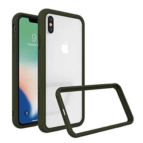 Rhino Shield Dünnes Bumper Case für iPhone XS Max [CrashGuard NX] Schock Absorbierende Schutzhülle mit minimalistischem Design [3,5 Meter Fallschutz] - Camo Grün -
