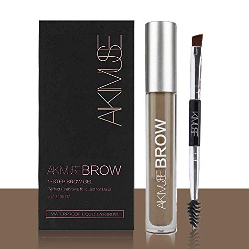 Sourcils Gel,ROMANTIC BEAR Waterproof Longue Durée Crayon de Maquillage Eyebrow Colors Gel With Brush Set,Anti-décoloration (Brunette)