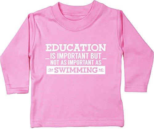 3179c40b7 HippoWarehouse Education is Important but Not as Important as Swimming  Camiseta Unisex bebé Manga Larga