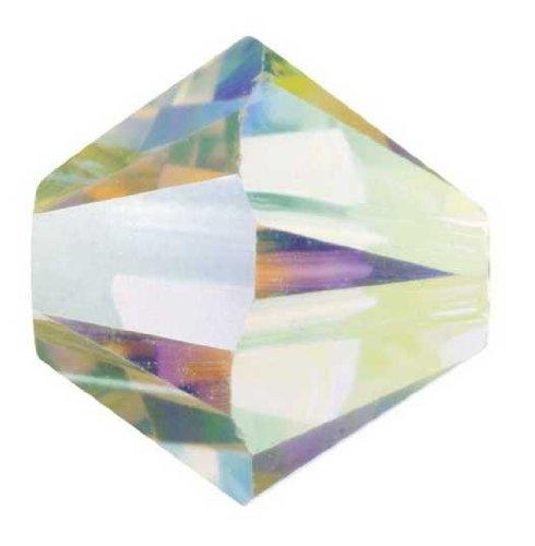 Swarovski perla semicono, 5328, 10mm, 3pezzi, 01 crystal AB aurore bore