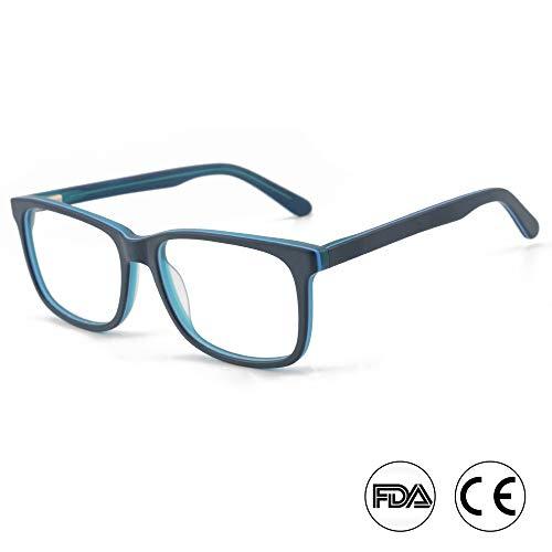 Blaulichtfilter Filterbrillen - Computerbrillen für tiefen Schlaf - Digitale Schutz vor Augenmüdigkeit (A15653C4 BLAU/BLAU/BLAU)