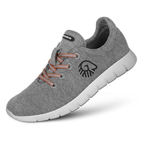 Giesswein Woll-Sneaker Merino Runners Women grau | 40 - Atmungsaktive Sneaker für Damen aus 100% Merino Wolle, Sportliche Schuhe, Halbschuh, Freizeitschuh, Damenschuhe -