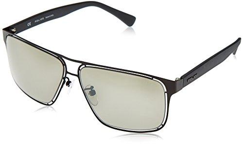 Police Herren Sonnenbrille Schwarz schwarz matt 85