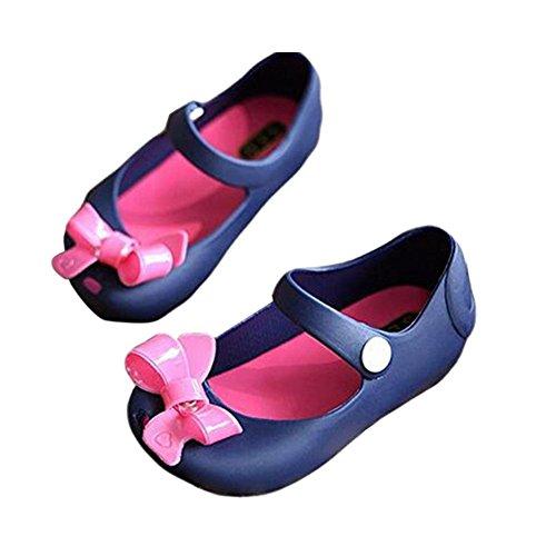 Meijunter Baby Mädchen Niedlich Weich Gelee Bowknot Fisch Mund Anti-Rutsch Lässige Schuhe Kleinkind Kinder Strand Sandalen Regen Stiefel Blau WUv4tf5P