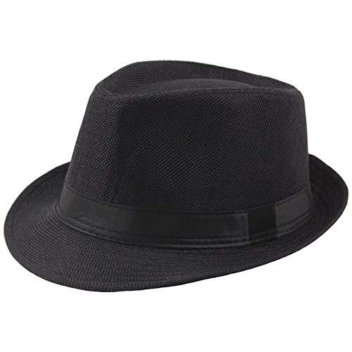 Kostüm Mafia 1920 - Coucoland Panama Hut Mafia Gangster Herren Fedora Trilby Bogart Hut Herren 1920s Gatsby Kostüm Accessoires (Schwarz)