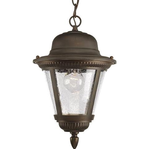 Progress Lighting P5530-20 1-Light Hanging Lantern, Antique Bronze by Progress