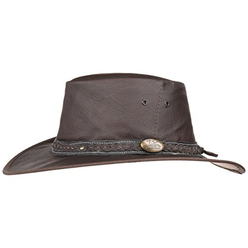 32d02fbf49fc3 Jacaru Roo Nomad Leather Hat Men´s Outback (XXL (61-62 cm