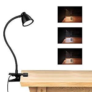 LED Clamp Clip Leuchttisch,CestMall LED Schreibtischlampe mit Klemme Dimmbarer Clip für Leselampe Einstellbare…