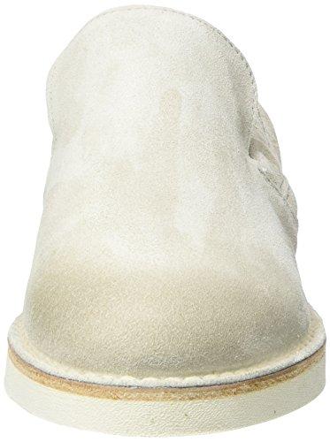 Shabbies Amsterdam Slipper Velourleder, Mocassins Femme Weiß (Off White)