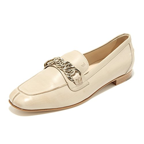 96526 mocassino TOD'S with vintage effect scarpa donna loafer shoes women whit Carne