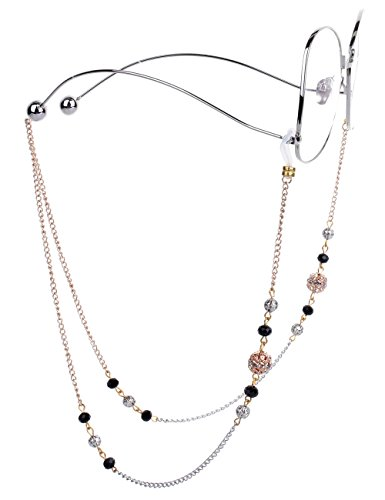 Mini Mini Tree Brillenketten für Lesebrillen Brillenband Damen Gold Lesebrille Kette mit Hohlperlen Brille Kette Sonnebrillen Band Lesebrillen Kette Lesebrillen Band Brille Cords Hals Cord Strap