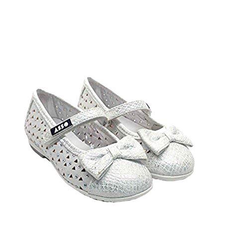ASSO Scarpe Kids Ballerina Pelle Bianco 54800 White