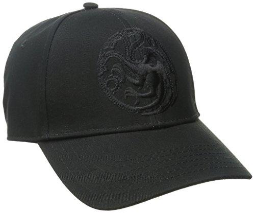 Game Of Thrones Targaryen Logo Fire and Blood Curved Bill Snapback Baseball Cap