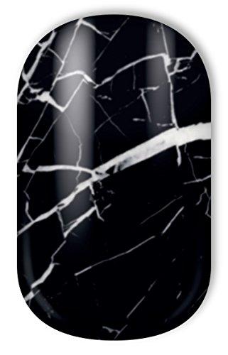 Miss Sophie's Nagelfolien Black Marble: Nail Wraps - 20 ultra-dünne selbstklebende langanhaltende Nagelfolien