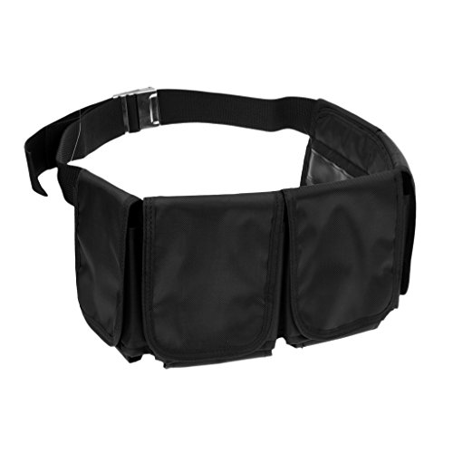 Baoblaze Verstellbar Tauchgewichte Gürtel Bleigürtel Tauchgürtel mit Taschen - 5 Taschen