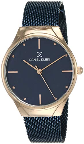 Daniel Klein Analog Blue Dial Women's Watch-DK12060-6