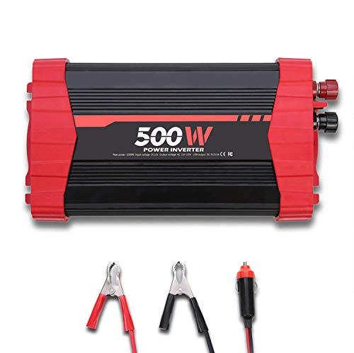 ATOMICO 300W / 500W Auto-Wechselrichter, DC 12V zu 110V AC-Konverter mit Zwei Ausgängen und 3.1A 4 USB-Ports, für Laptop, Telefon für den Fall von Notfällen und Ausfällen,500W - 240v Zu Spannungswandler 110v