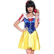 Anladia - Disfraz de blancanieves Cosplay Dress Fiesta Carnaval Halloween Talla S 38