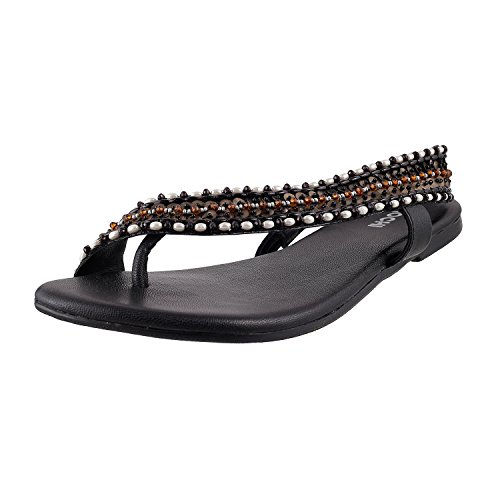 Mochi Women Synthetic Toe Ring Sandals image