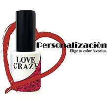 LOVECRAZY - Kit de Esmaltes de Uñas en Gel Semipermanente, 4 Colores de Esmaltes y Top Coat Base Coat