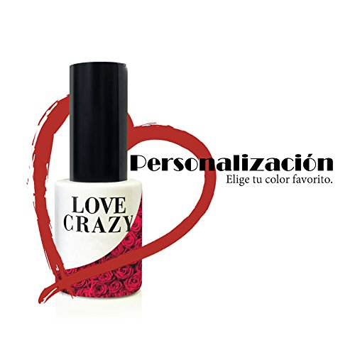 LOVECRAZY - Kit de Esmaltes de Uñas en Gel Semipermanente, 4 Colores de Esmaltes y Top Coat Base Coat
