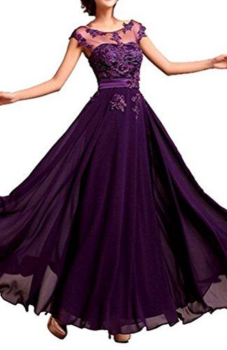 PLAER femmes dentelle mousseline de soie robe robe de mariée de mariée Cocktail robe de soirée sexy Violet