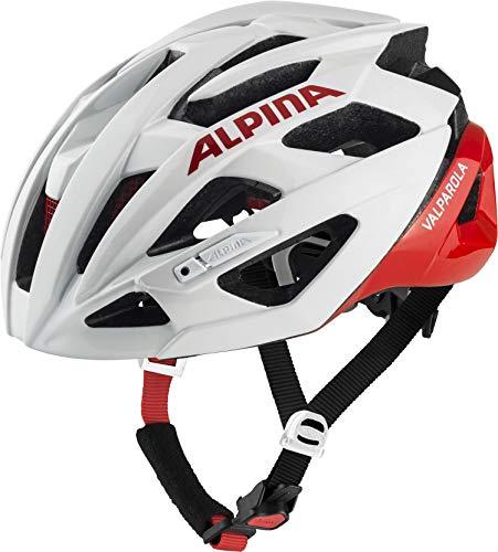 Alpina Unisex- Erwachsene VALPAROLA Fahrradhelm, White-red, 55-59 cm