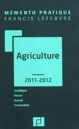 MEMENTO AGRICULTURE 2011-2012