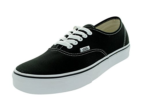 Vans U Authentic - Baskets Mode Mixte Adulte - Noir (Black/White) - 44 EU