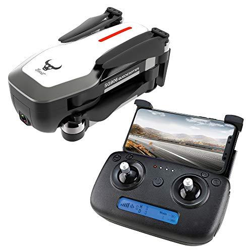 HappySDH Faltbare Drohne SG906 mit Kamera 4K HD,WiFi GPS 5G Brushless RC Drone, 360-Grad-Flip,Fliegende Spielzeug,Live Video, Quadrocopter für Kinder und Anfänger (Weiß)