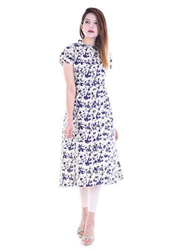 RAJMANDIRFABRICS Women's Cotton Straight Kurti (PK1015499-S_Multi Color_Small)