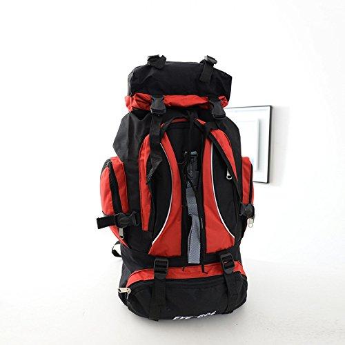 ROBAG Neue Reisen Outdoor-Rucksack wandern outdoor Rucksack große Tasche für Männer und Frauen red