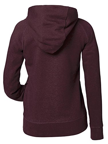 Damen Hoodie, Kapuzenpullover uas 85% Biobaumwolle und 15% Polyester, Damen Bio Pullover, Damen Bio Hoodie, Damen Sweater Baumwolle (Bio), Heather Grape Red