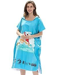 CAALSA - Una Talla para Todos, Bata de baño de Microfibra Azul Toalla de Playa