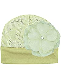 Jamie Rae Hats- Gold Couture Hat with Sequins Cream Rose