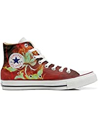 Converse All Star Hi Customized personalisierte Schuhe (Handwerk Schuhe) Flower